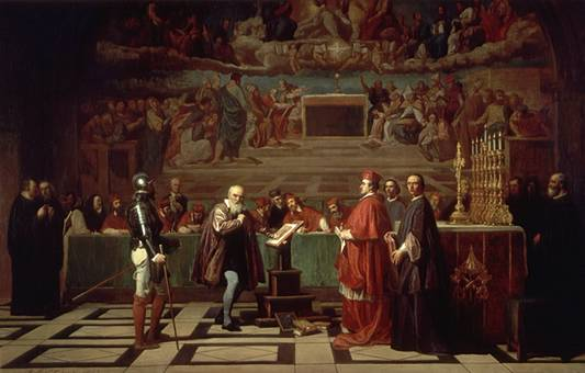 Рис. 4. Галилей перед судом инквизиции. Жозеф-Николя Робер-Флери. 1847 год