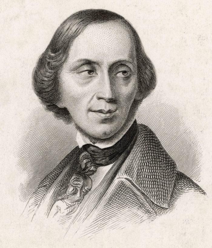 Рис. 4. Ганс Христиан Андерсен. Фото не позднее 1850 года