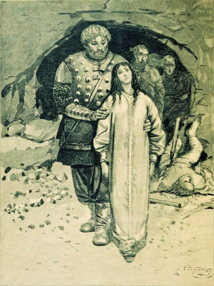 Рис. 3. Добрыня Никитич. Андрей Рябушкин. 1895 год