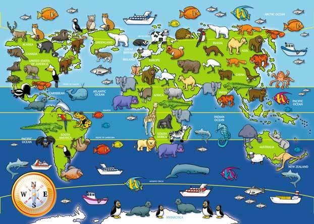 Рис. 3. Животный мир Земли