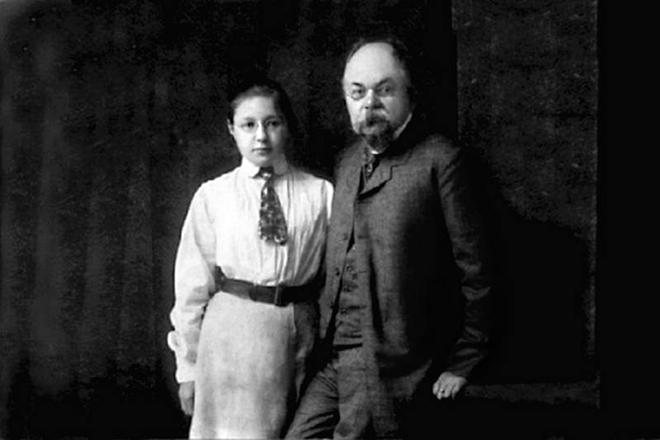 Рис. 5. Иван Владимирович Цветаев с дочерью Мариной. 1906 год