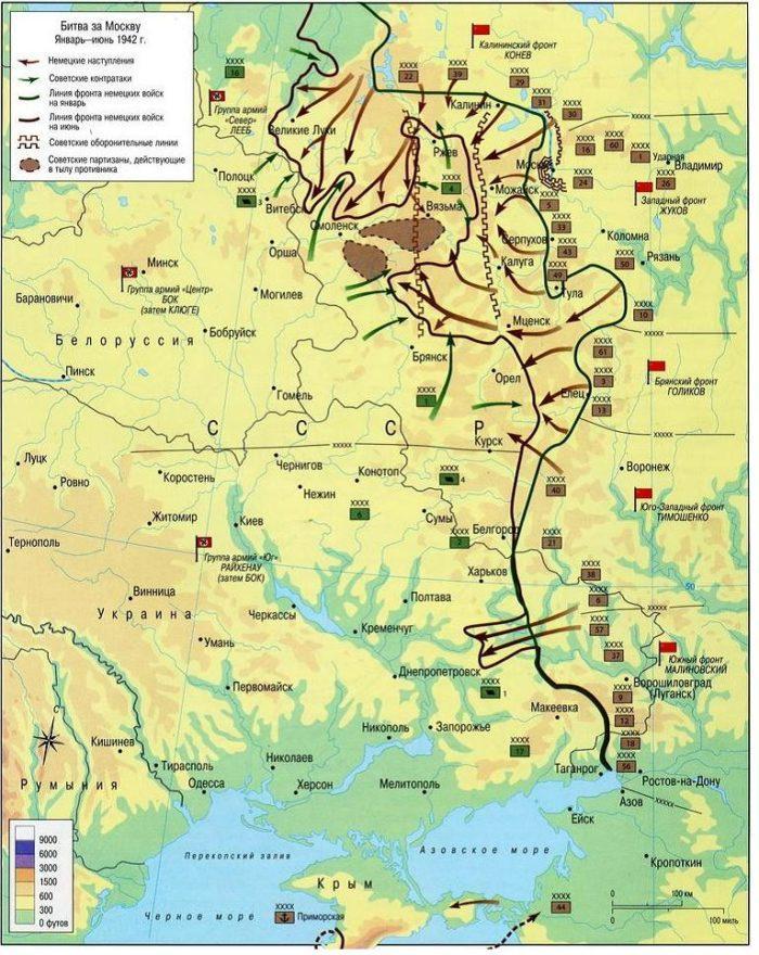 Рис. 4. Карта сражения за Москву