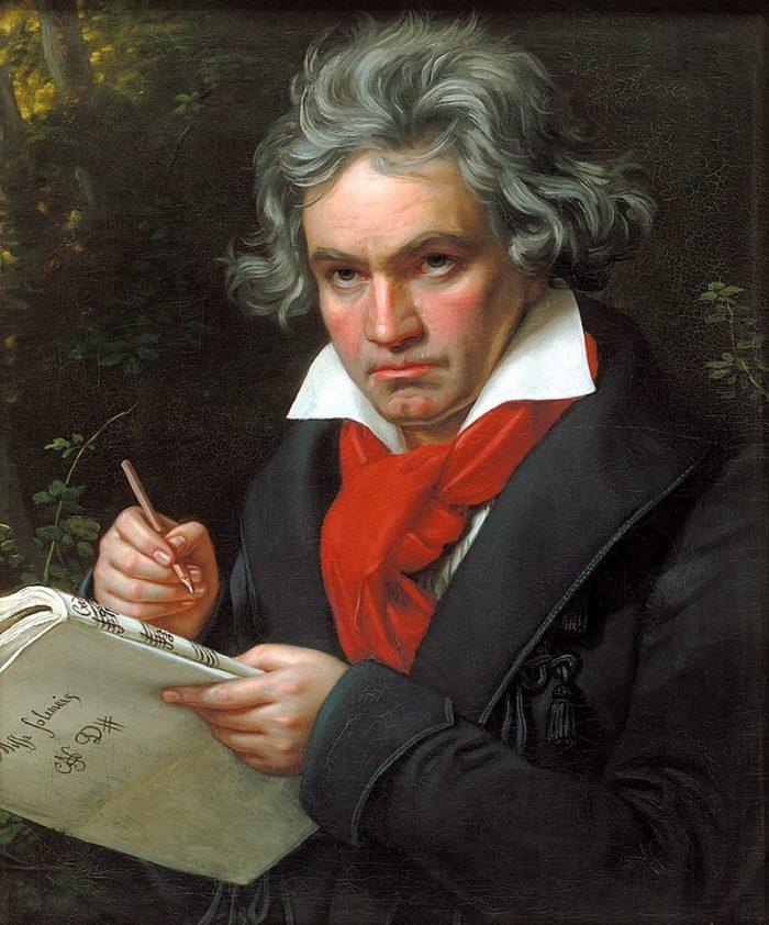 Рис. 1. Людвиг ван Бетховен. Портрет работы Карла Штилера. 1820 год