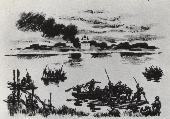 Рис. 3. Переправа. О. Верейский. 1943-46 гг.