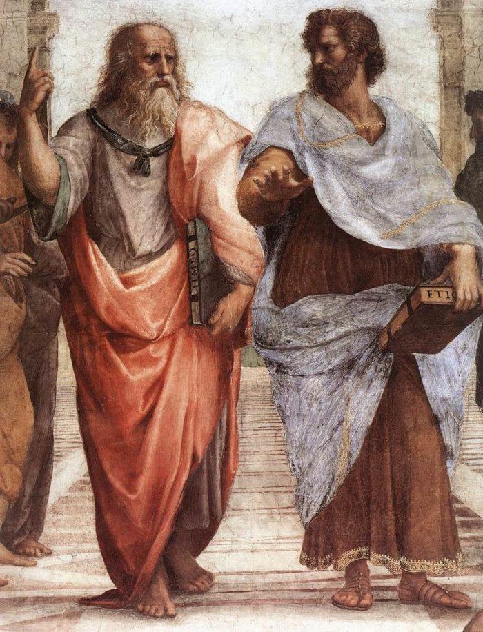 Рис. 2. Платон и Аристотель. Часть фрески «Афинская школа». Рафаэл Санти