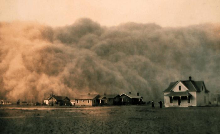 Рис. 6. Пыльная буря в Техасе. 1935 год