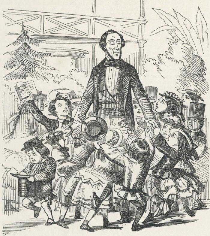 Рис. 5. Рисунок в честь визита Ганса Христиана Андерсена в Лондон. 1857 год