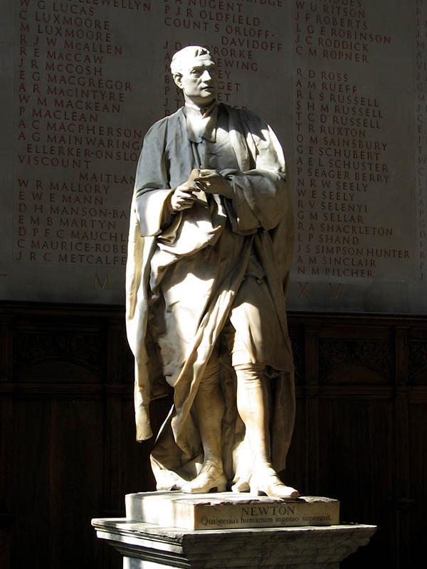 Рис. 8. Статуя Ньютона в Тринити-колледже. 1755 год