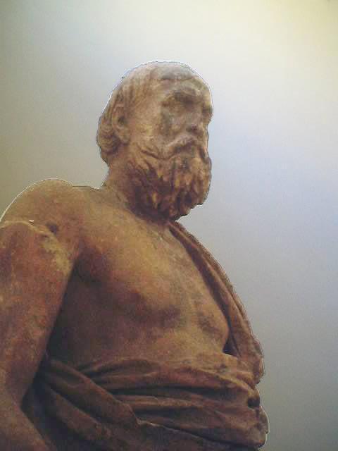Рис. 4. Статуя Платона в Дельфах