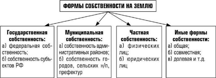Рис. 4. Формы собственности на землю