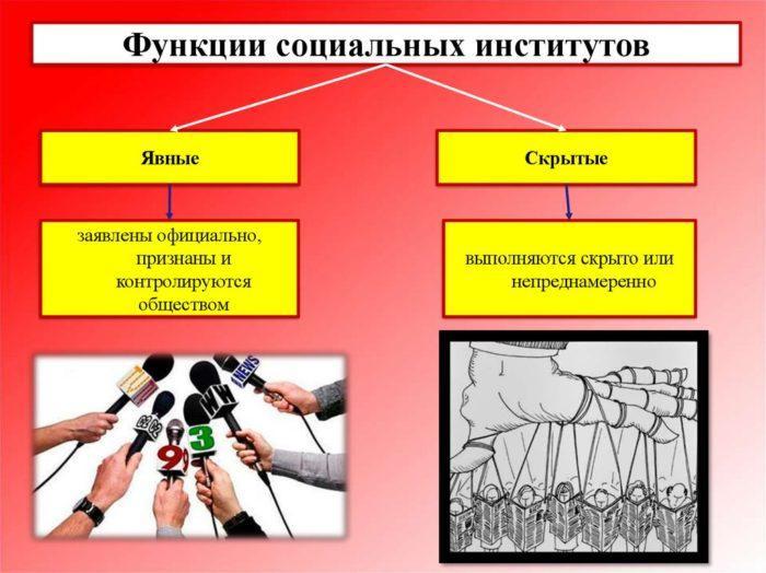 Рис. 3. Функции социальных институтов