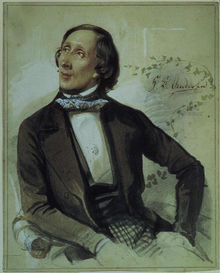 Рис. 2. Ганс Христиан Андерсен. Художник Карл Хартманн. 1845 год