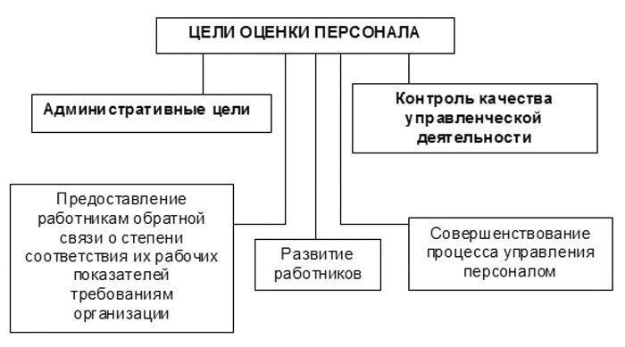 Рис. 1. Цели оценки персонала
