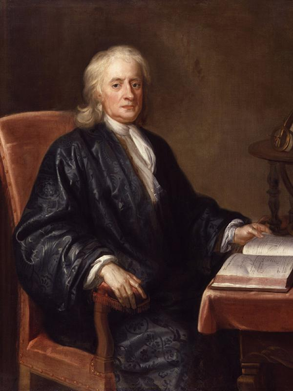 Рис. 4. Исаак Ньютон. Е. Симен. 1726 год