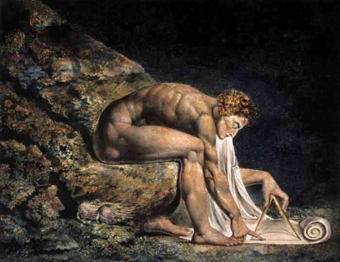 Рис. 6. И. Ньютон в образе античного божественного геометра. Уильям Блейк. 1795 год