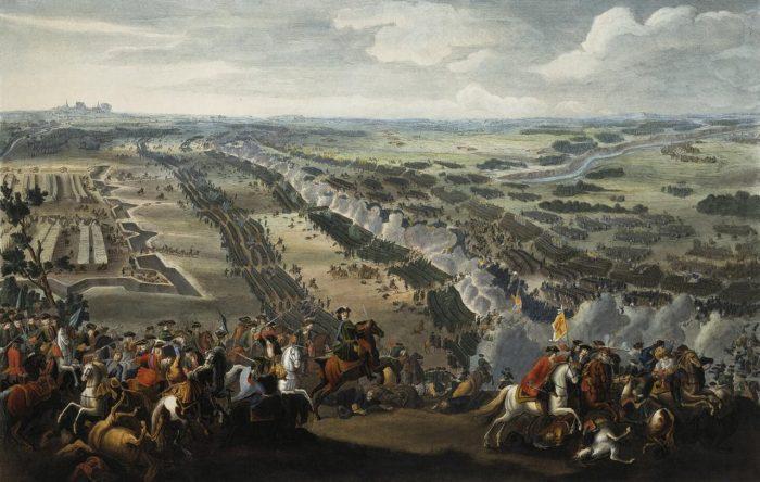 Рис. 2. «Полтавская битва». Денис Мартен. 1726 год