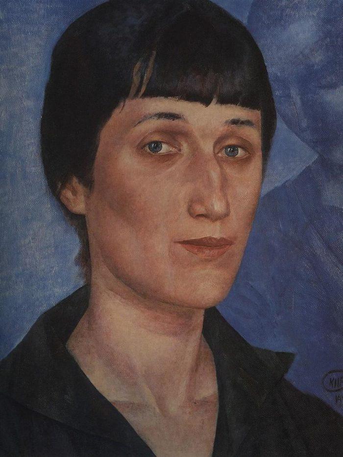 Рис. 5. «Портрет Анны Ахматовой». К. Петров-Водкин. 1922 год