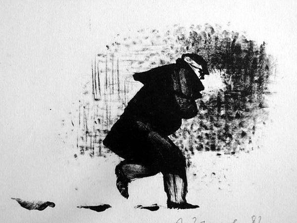 Рис. 1. Акакий Акакиевич. Иллюстрация А. И. Зыкова