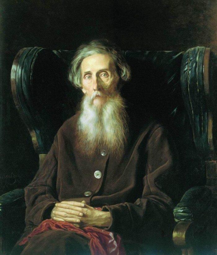 Рис. 1. Владимир Иванович Даль. Портрет кисти В. Перова. 1872 год