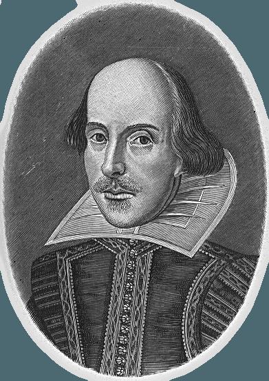 Рис. 1. Единственное известное достоверное изображение Шекспира — гравюра из посмертного «Первого фолио». Мартин Друшаут. 1623 год