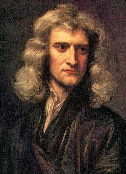 Рис. 1. Исаак Ньютон. Портрет кисти Г. Кнеллера. 1689 год