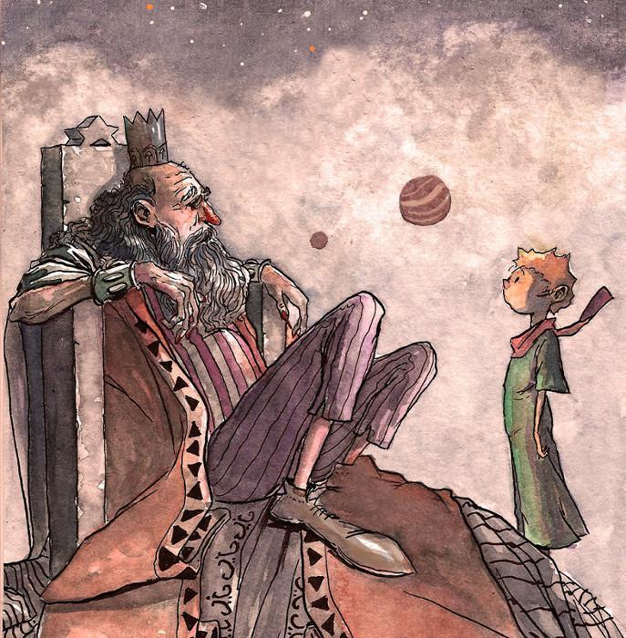Рис. 1. Король, живущий на астероиде. Автор Rodrigo Lujan