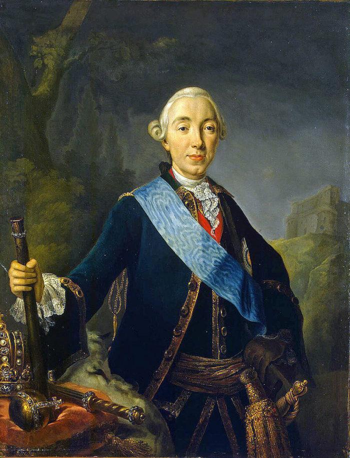 Рис. 1. Коронационный портрет императора Петра III. Автор Л. К. Пфанцельт