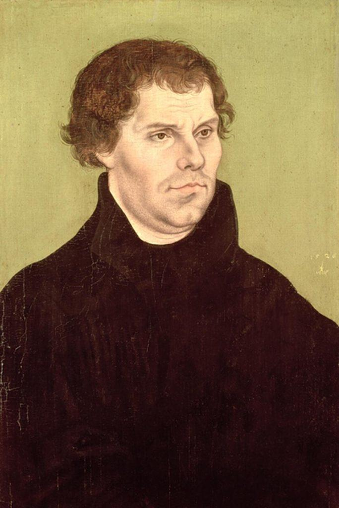 Рис. 1. Мартин Лютер. Портрет работы Лукаса Кранаха Старшего. 1526 год