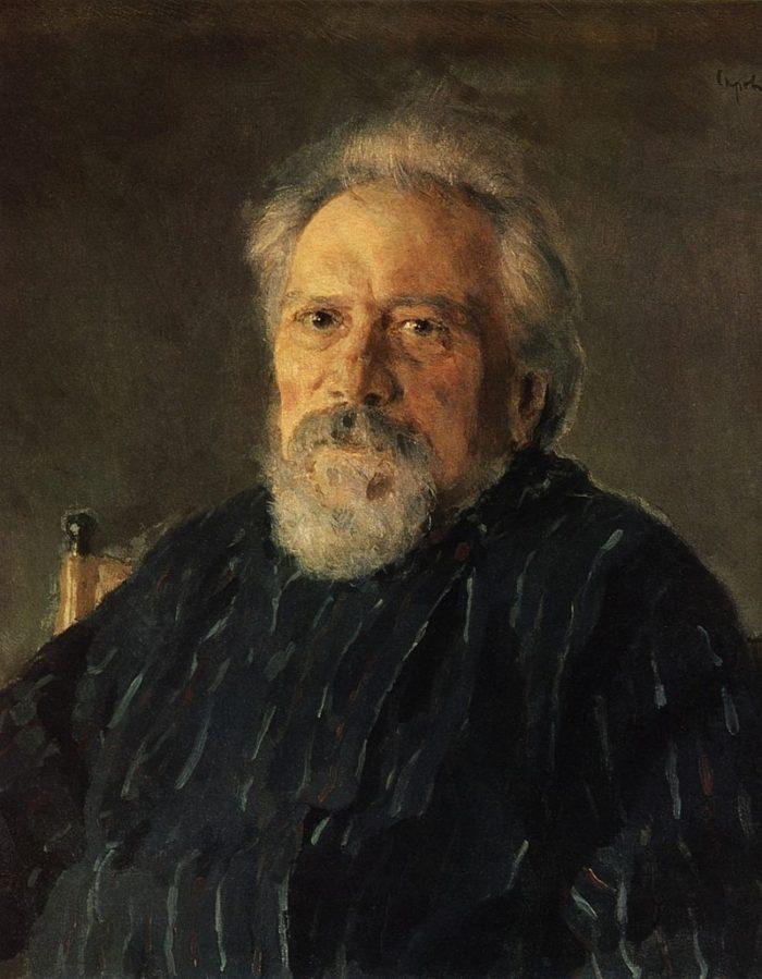 Рис. 1. Николай Семенович Лесков. Портрет кисти В. А. Серова. 1894 год