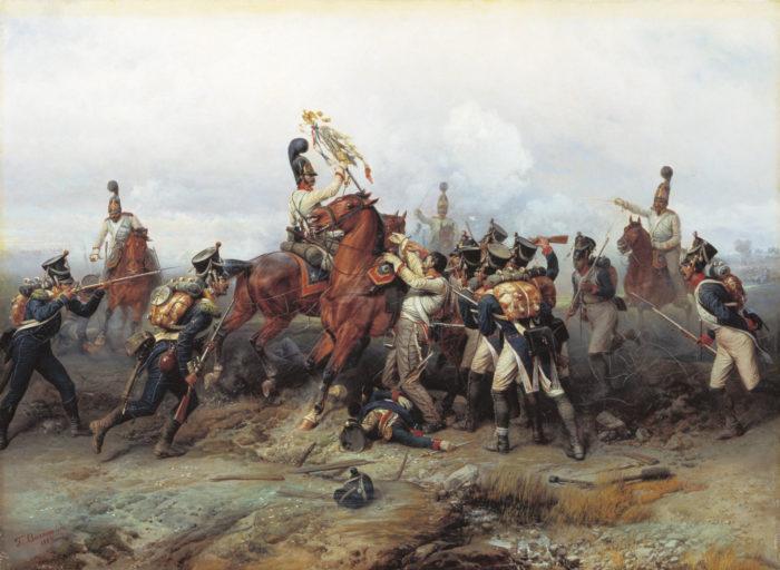 Рис. 1. Подвиг конного полка в сражении при Аустерлице в 1805 году. Б. П. Виллевальде