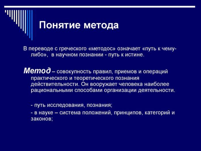Рис. 1. Понятие метода