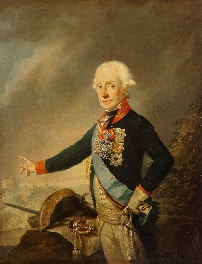 Рис. 1. Портрет фельдмаршала графа А. В. Суворова. Й. Крейцингер. 1799 год