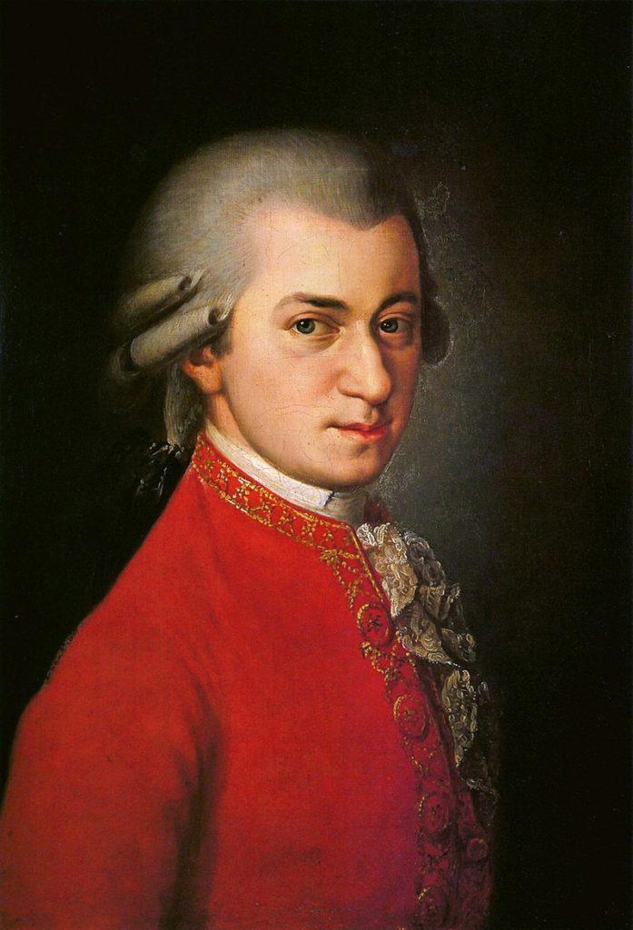 Рис. 1. Посмертный портрет Моцарта работы Барбары Крафт. 1819 год