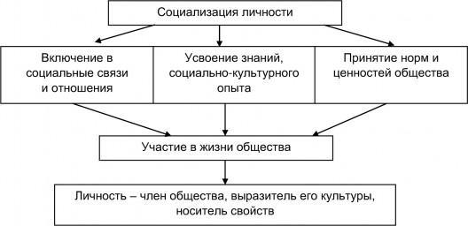Рис. 1. Социализация личности