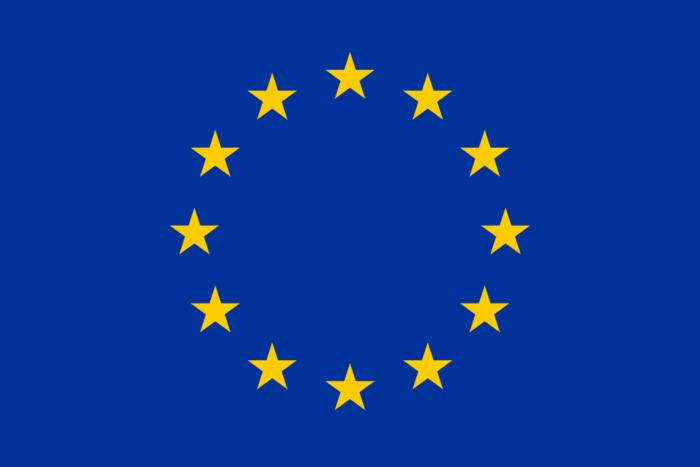Рис. 1. Флаг Европейского Союза. Круг из двенадцати золотых звезд на синем фоне