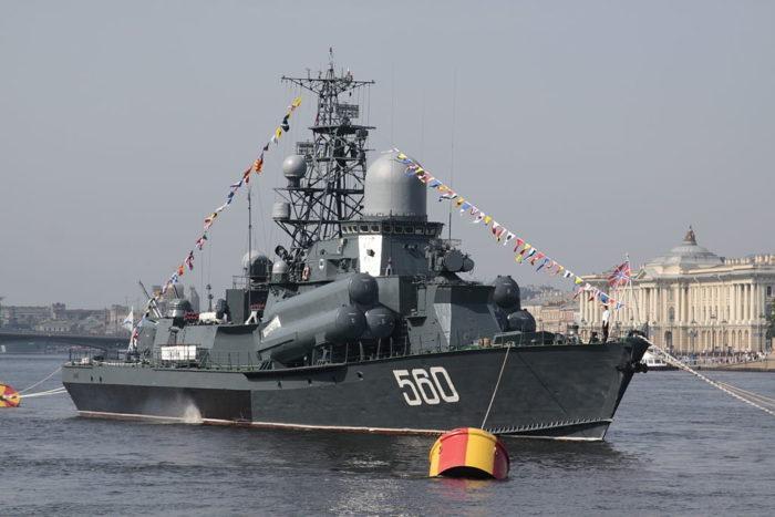 Рис. 9. Малые ракетные корабли проекта 1234 «Овод»