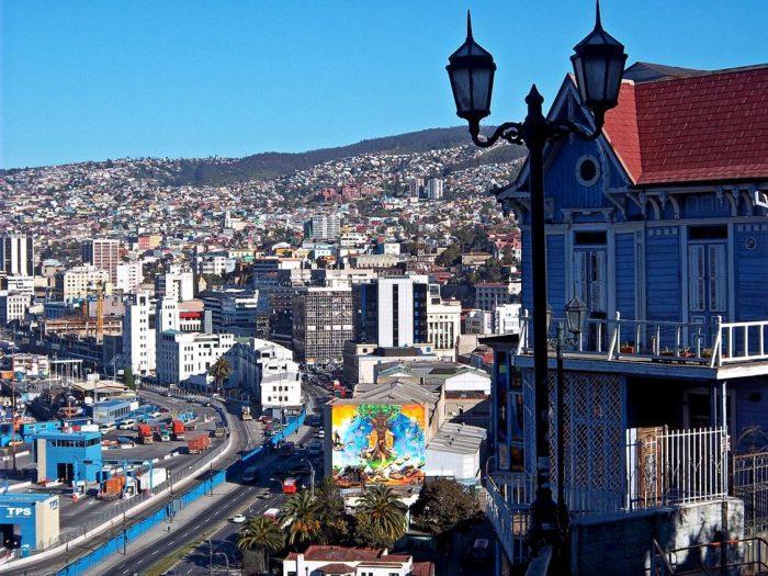Рис. 11. Город Вальпараисо. Чили