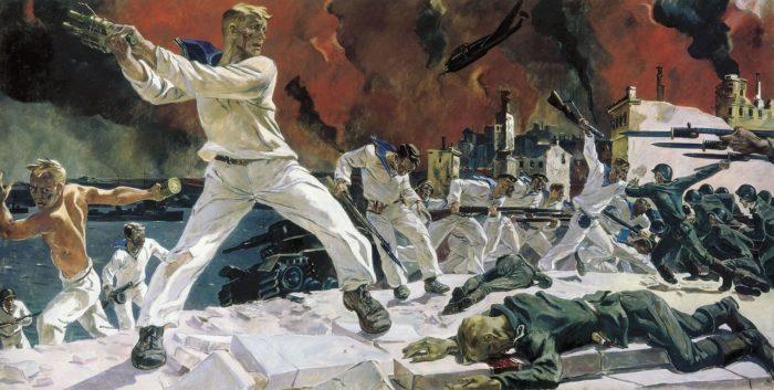Рис. 11. Оборона Севастополя. Автор А.А. Дейнека