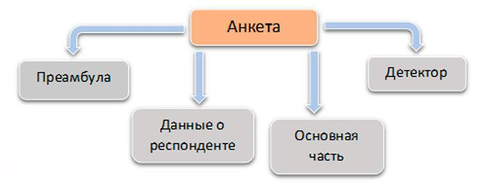 Рис. 2. Структура анкеты