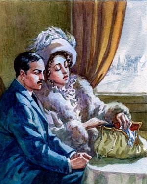 Рис. 2. Иллюстрация к рассказу Кавказ И. А. Бунина