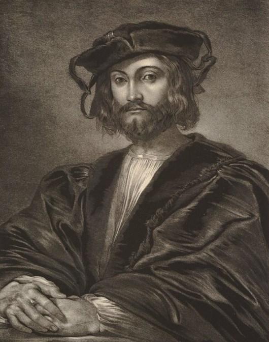 Рис. 2. Портрет Леонардо да Винчи в молодости. Г. К. Селоус. 1820 год