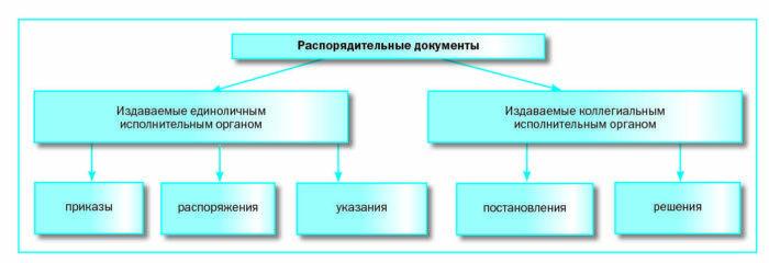 Рис. 3. Распорядительные документы