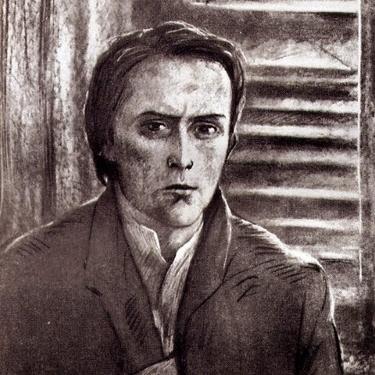 Рис. 1. Родион Раскольников на лестнице. И.С. Глазунов