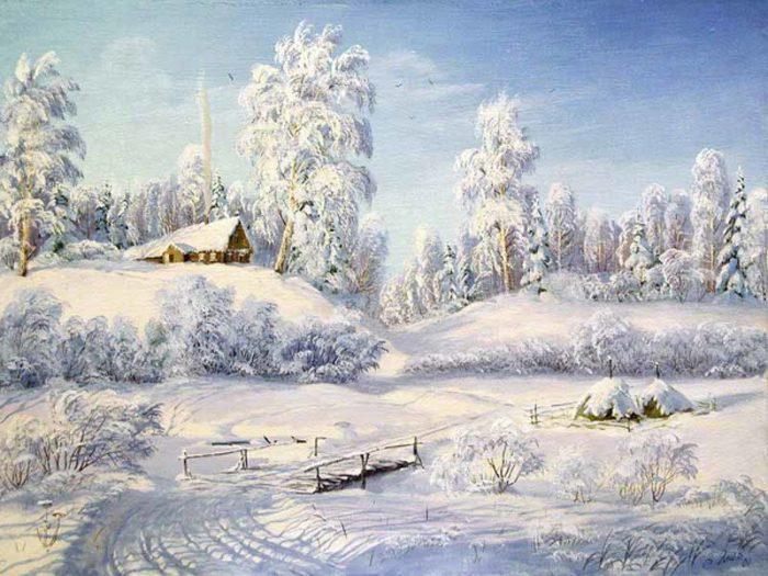 Рис. 2. Русская зима. Художник В. Л. Янов. 2001 год