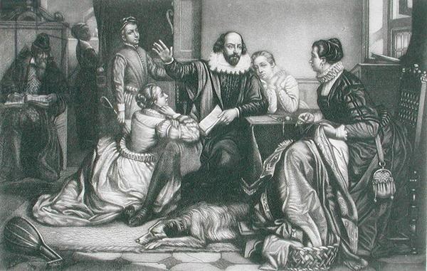 Рис. 2. Семья Уильяма Шекспира. Эдуард Жан Конрад Хамман