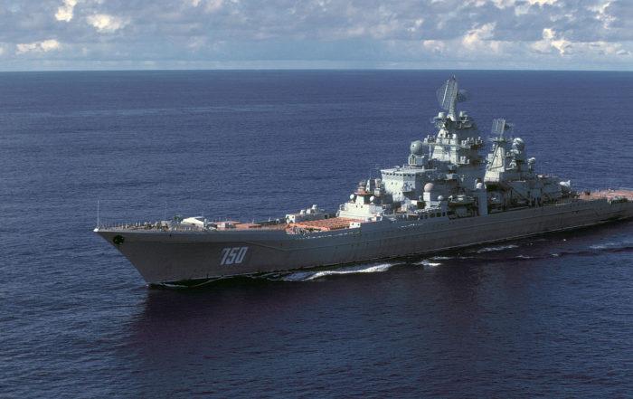 Рис. 2. Тяжелые атомные крейсеры проекта 1144 «Орлан»