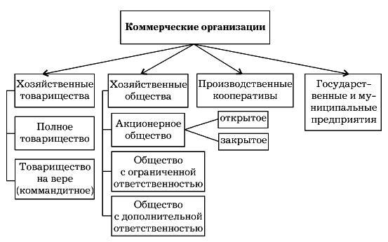 Рис. 2. Формы коммерческих предприятий