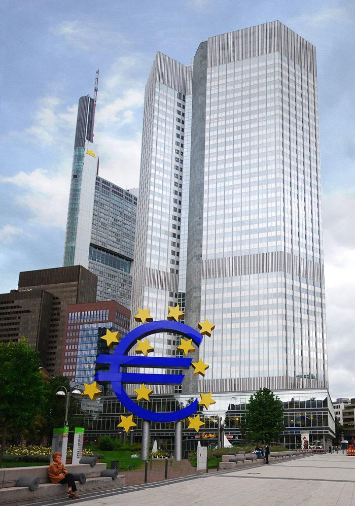 Рис. 3. Европейский центральный банк во Франкфурте-на-Майне определяет денежно-кредитную политику