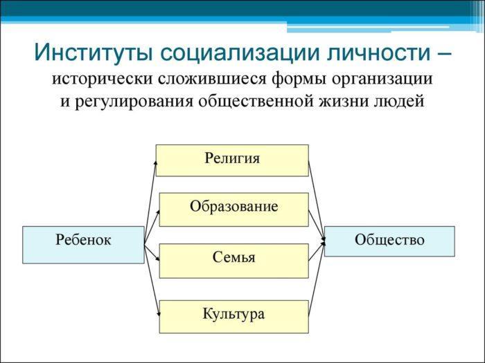 Рис. 3. Институты социализации личности