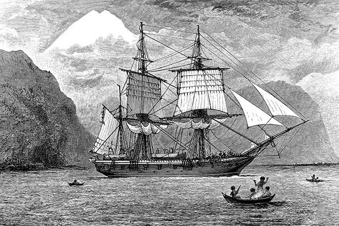 Рис. 4. «Бигль» - корабль Чарльза Дарвина